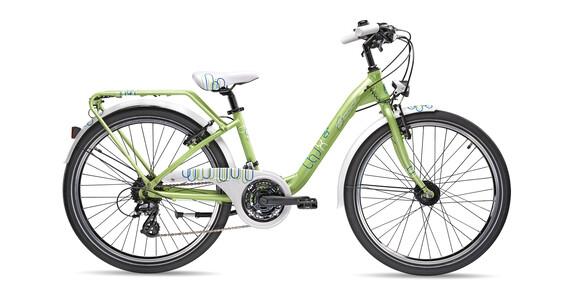 """s'cool chiX pro 24-24 Rower dziecięcy  24"""" zielony"""